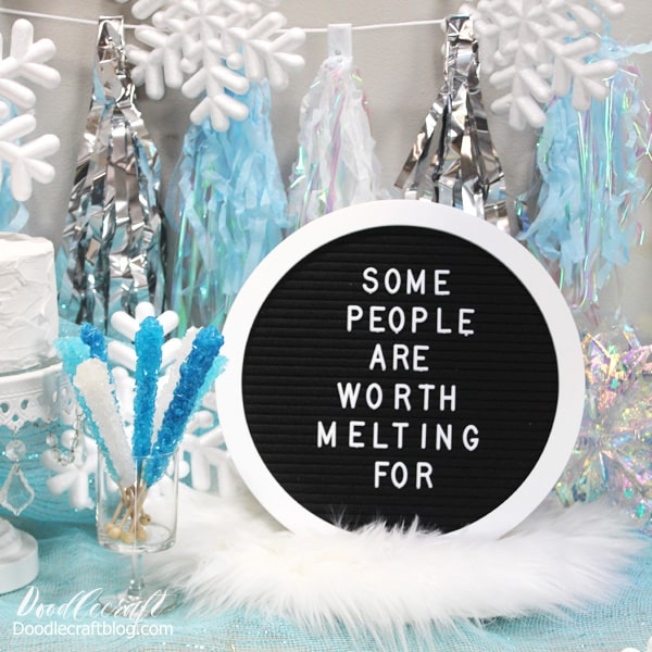 Some People are worth melting for...Frozen 2 birthday party decorations