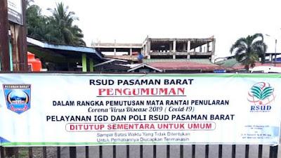 Layanan RSUD Ditutup Sementara, IGD dan Poliklinik Dialihkan Ke RS Yarsi Simpang Empat