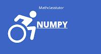 numpy python with mathclasstutor