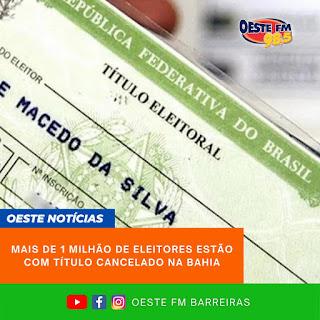 Título eleitoral cancelado pode ser regularizado pelo título net na Bahia