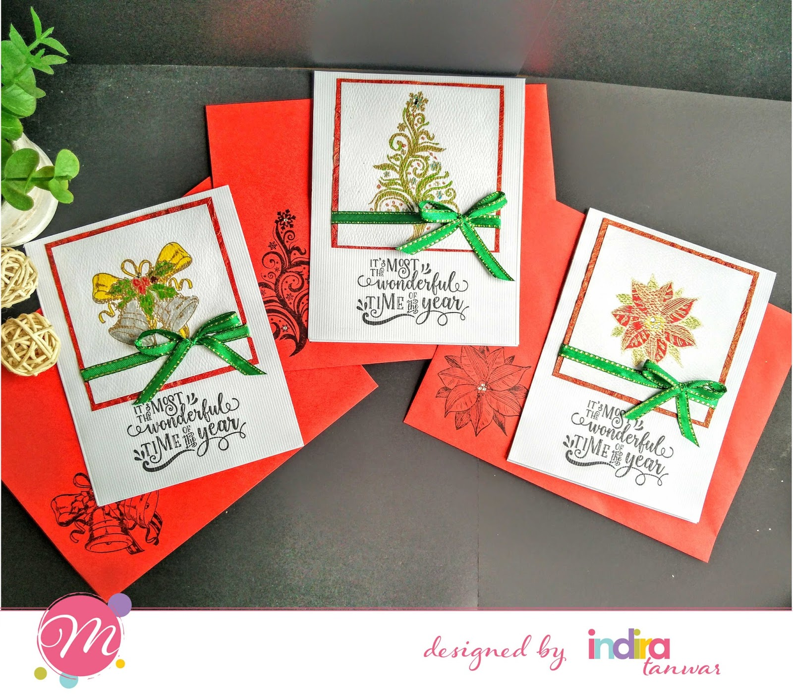 mudra craft stamps christmas card inspirations