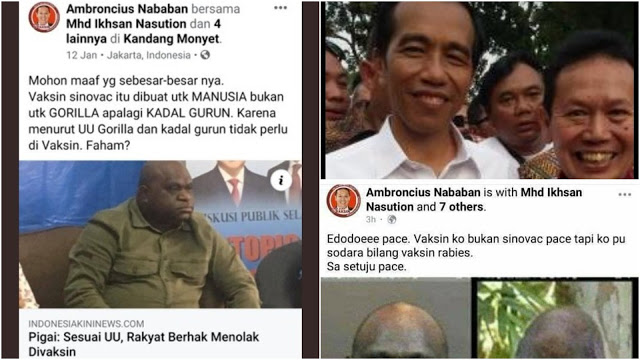 Ketua Relawan Pro Jokowi Amin, Ambroncius Nababan Lakukan Hinaan Rasial ke Aktivis Papua Natalius Pigai.lelemuku.com.jpg