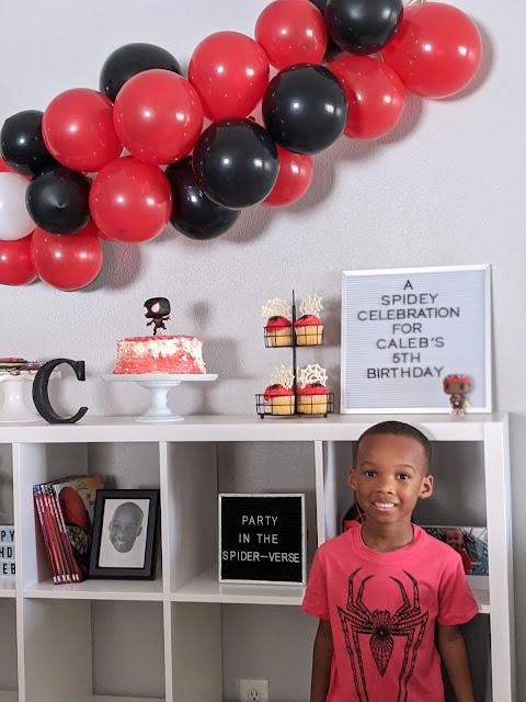 Spidey celebration for Caleb's 5th birthday