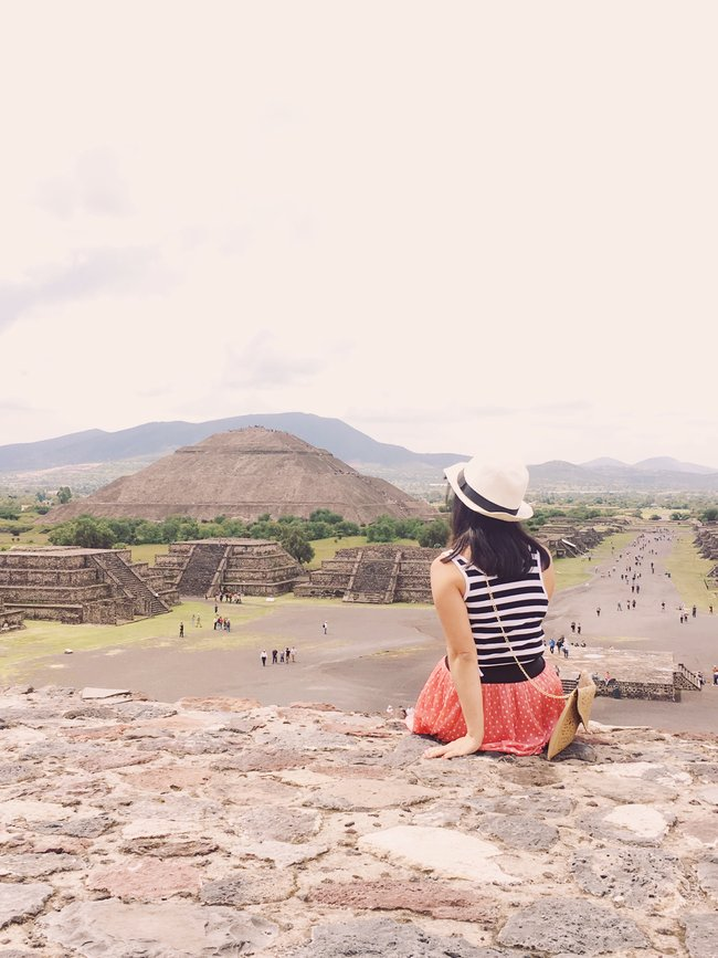Visiting Teotihuacan Mexico City Day Trip pyramid of the moon view