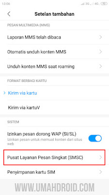 Pengaturan Pusat Layanan Pesan Singkat Xiaomi