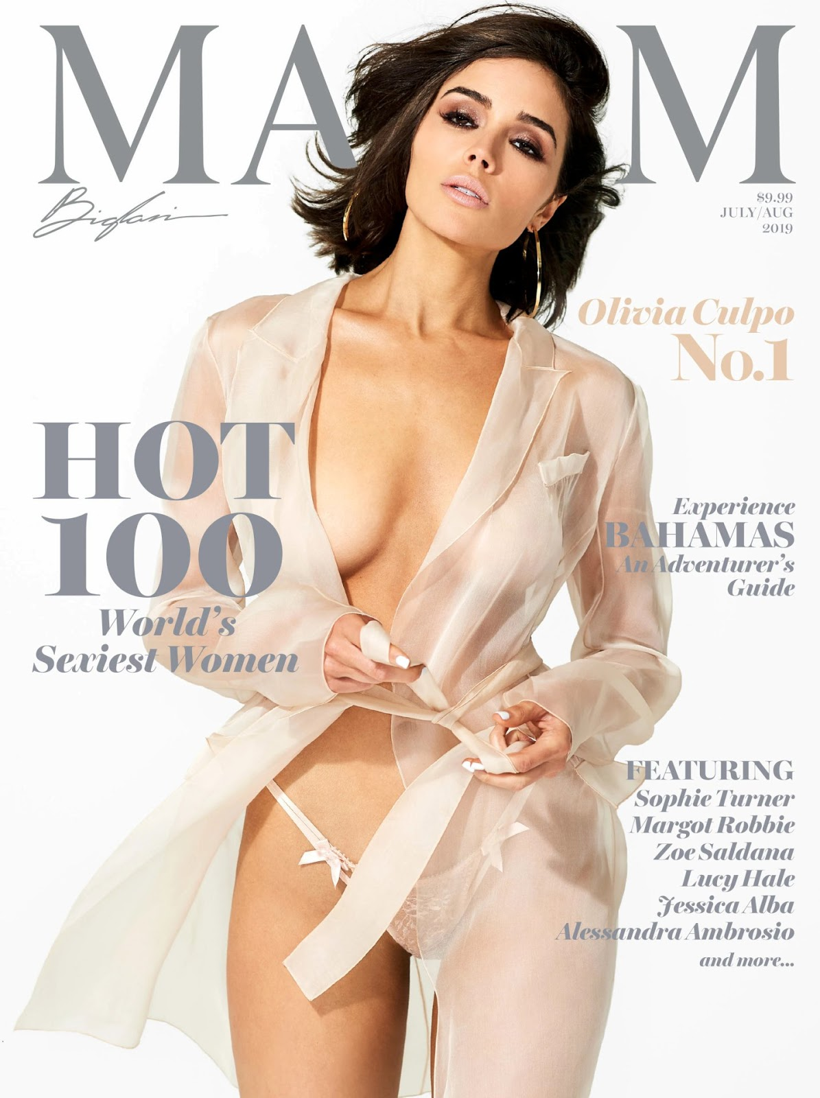 Instagram star and former Miss Universe shines in exclusive photos from Maxim's annual Hot 100 issue.