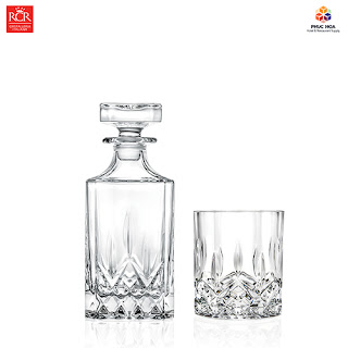 Bộ ly thủy tinh pha lê cao cấp dùng cho rượu vang và rượu mạnh, rượu whisky Hà Nội