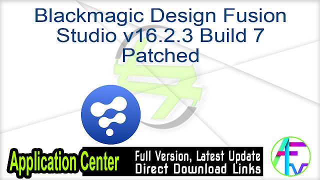 Blackmagic Design Fusion Studio v16.2.3 Build 7 Patched