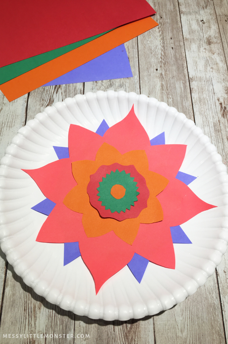 Rangoli craft for kids
