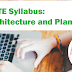 GATE Syllabus 2020: Architecture and Planning