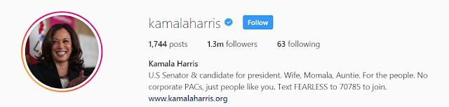 Kamala Harris Instagram