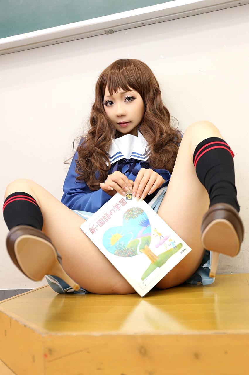 ran higurashi hot schoolgirl cosplay 01