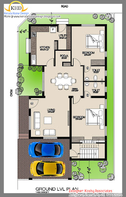137 Square Meter (1480 Sq. Ft)Single Floor House Plan Elevation - September 2011