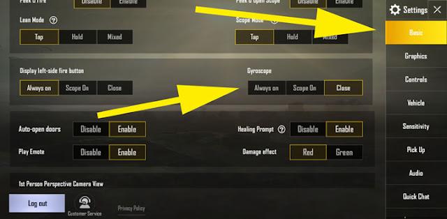 Cara Menggunakan Giroskop di PUBG Mobile Cara Menggunakan Giroskop di PUBG Mobile