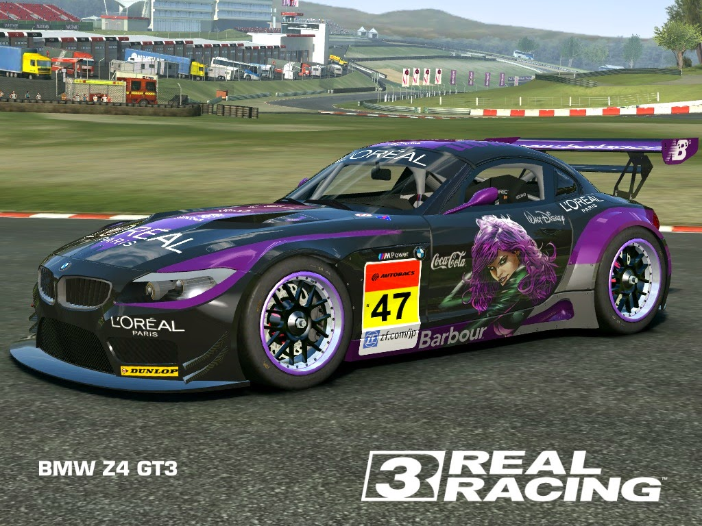 real racing 3 mod skin livery vinly 2010 bmw z4 gt3 loreal z4 gt3 by tanto arc. Black Bedroom Furniture Sets. Home Design Ideas