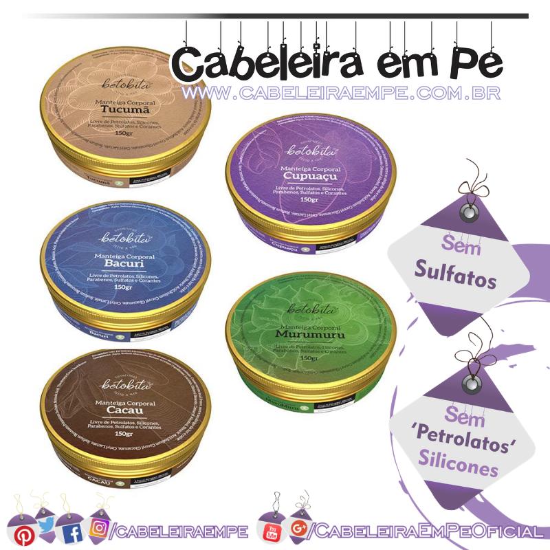 Manteigas BetoBita - Bacuri, Cacau, Cupuaçu, Murumuru e Tucumã