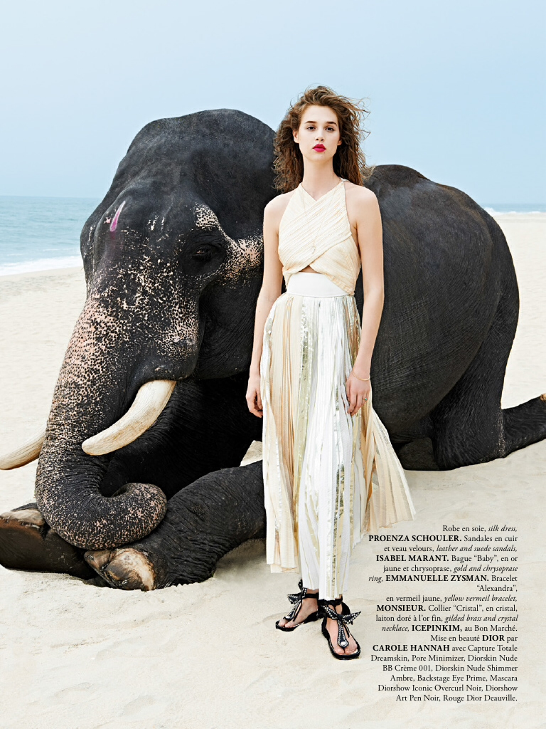 anais pouliot in air france madame magazine june july 2014 by sonia sieff. Black Bedroom Furniture Sets. Home Design Ideas