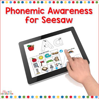 Seesaw learning phonemic awareness activities for kindergarten