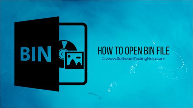 كيف تفتح الملفات bin