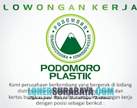 Open Recruitment at UD. Podomoro Plastik Surabaya Terbaru November 2019