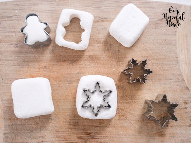 snowflake cookie cutter square oversized marshmallows