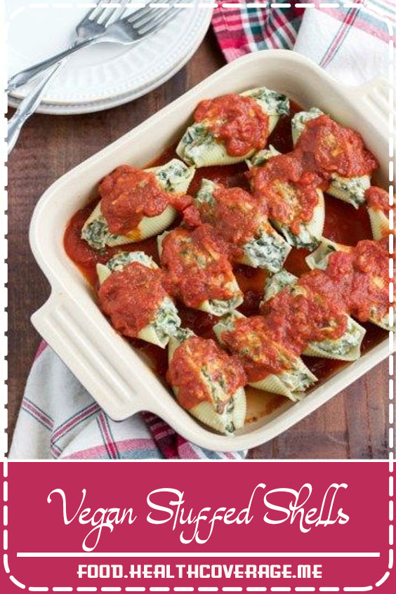 These vegan stuffed shells are filled with the best super creamy spinach artichoke dip. This meal is family-friendly, easy to make, and it's definitely a crowd-pleaser! Vegan.