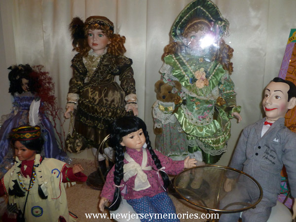 Pee Herman doll on the right
