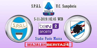 Prediksi SPAL vs Sampdoria — 5 November 2019