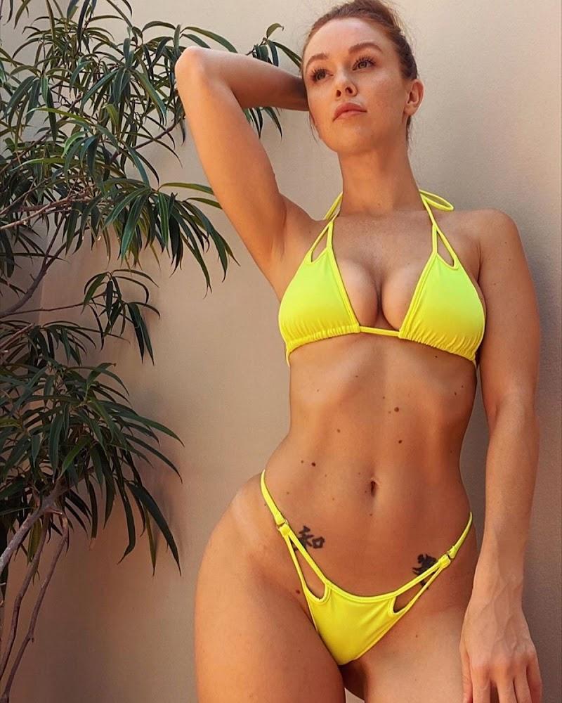 Leanna Decker Clicked in a Yellow Bikini – Instagram Photos 10 Jun-2020