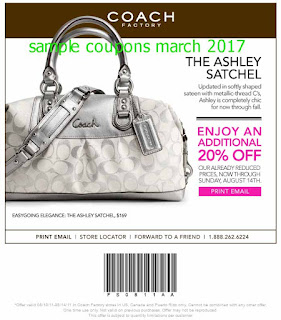 free Coach coupons march 2017