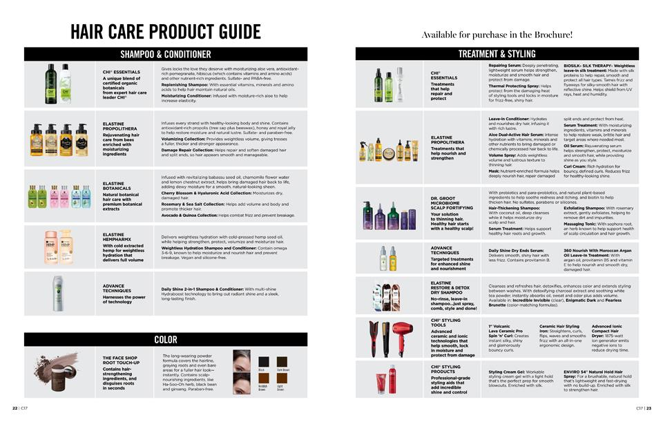 HAIR CARE PRODUCT GUIDE