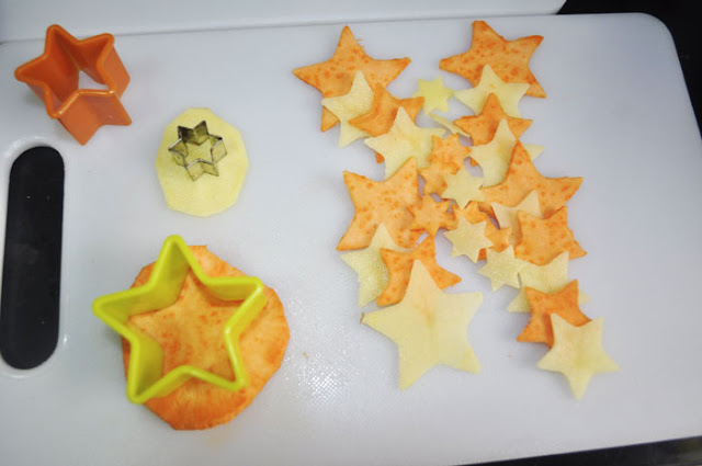 cortando en forma de estrella