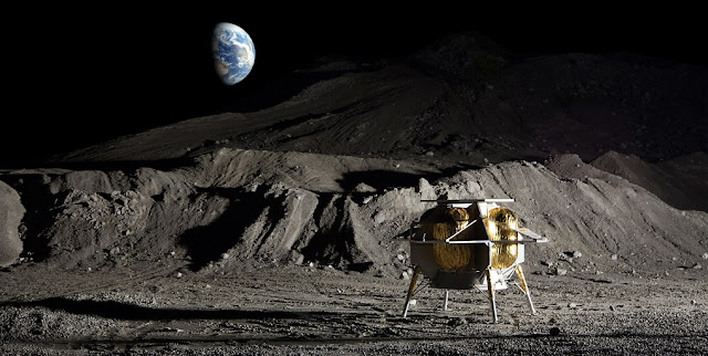 Astrobotic's Peregrine Lander will deliver a laser communications terminal built by ATLAS to the moon. Image Credit: Astrobotic