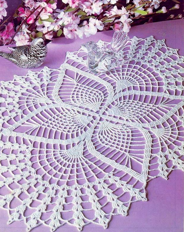 Crochet Art Crochet Doilies Crochet Pattern Oval Lace Doilies