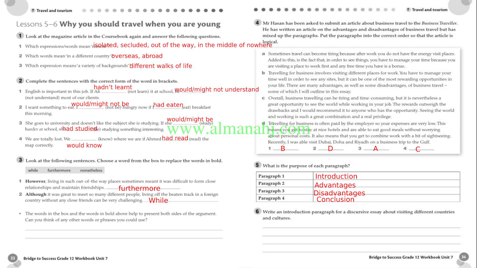 حل كتاب اللغة الإنجليزية للصف التاسع workbook ليبيا