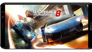 تنزيل لعبة Asphalt 8 Mod Free Shopping مهكرة المال و مكهرة بالكامل بأخر اصدار