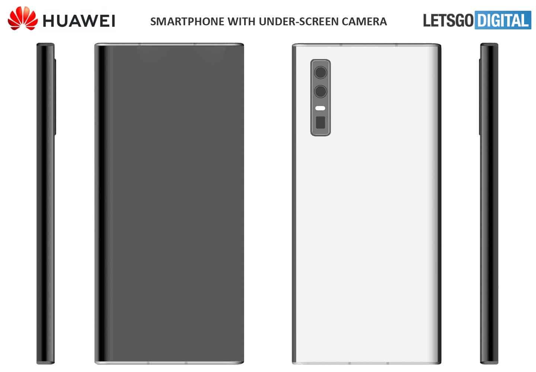 هواوي تشجل براءاتين اختراع هواتف ذكية مع كاميرا تحت الشاشة