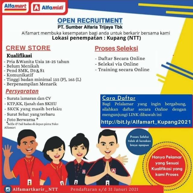 Loker Kupang Crew Store di Alfamart