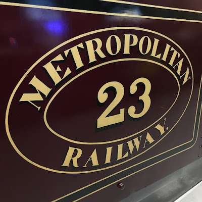 Metropolitan Railway locomotive number 23 at the London Transport Museum