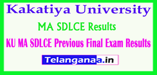 Kakatiya University MA (SDLCE) Previous Final 2018 Exam Results