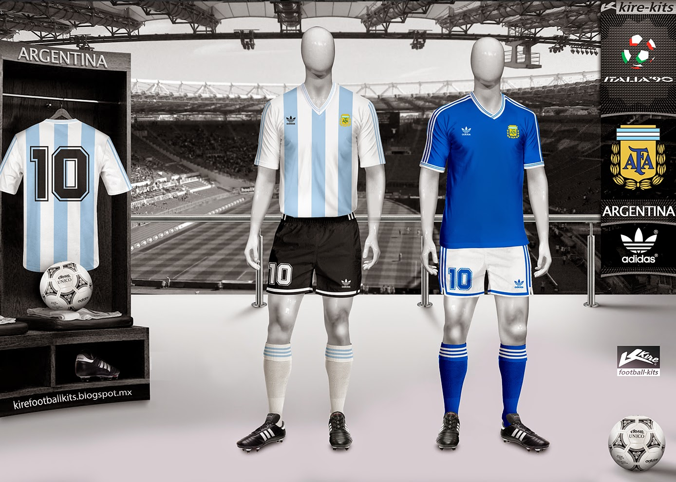 56a7563d8 Kire Football Kits: Argentina kits World Cup 1990
