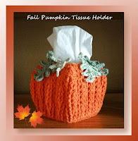 http://www.crochetmemories.com/blog/fall-pumpkin-tissue-holder/