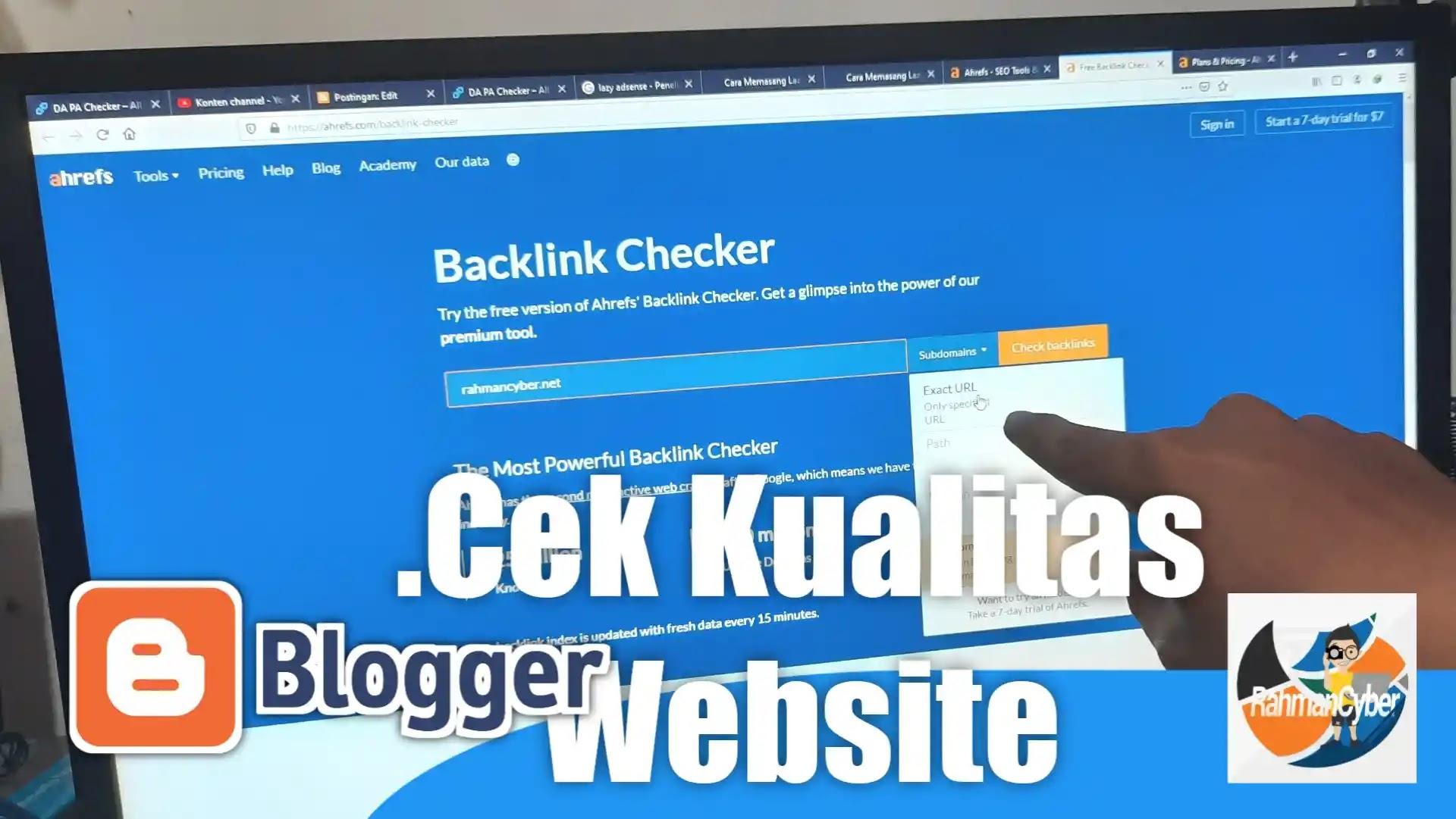 ahrefs backlink check