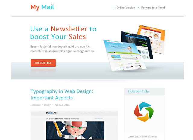Abstract Html Newsletter Template