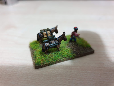 Pendraken Miniatures NW12 Pack mule team with maxim gun picture 2