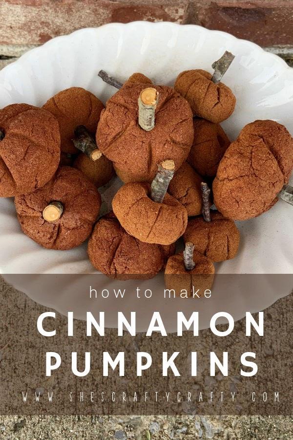 How to Make Cinnamon Pumpkins for Fall pinterest pin.