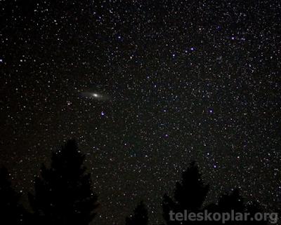 Andromeda gözlemi yapmak