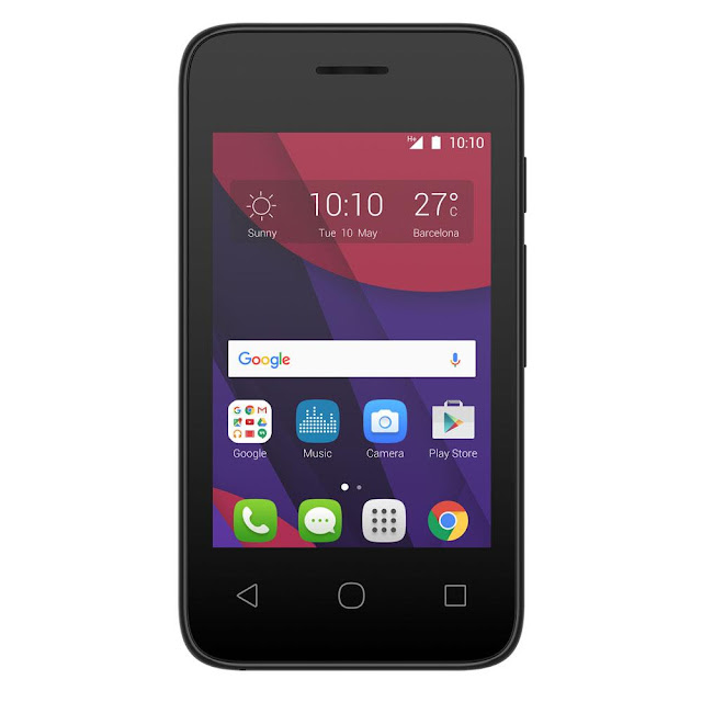 Smartphone Alcatel memória 4GB, câmera 5MP