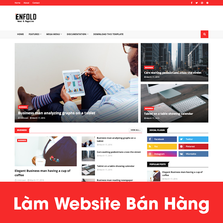 [A121] Dịch vụ thiết kế website nhà hàng uy tín, chất lượng nhất