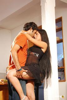 Meghna Patel aka Thaji Karaya thunder thigh and milky legs in black transparent babydoll 5
